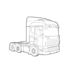 Outline truck vector