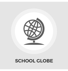 School globe flat icon vector