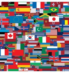 Background Made from World Flags Template vector image