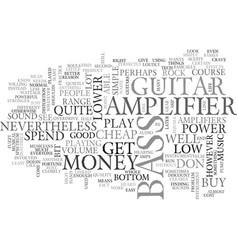 Bass amplifier text word cloud concept vector