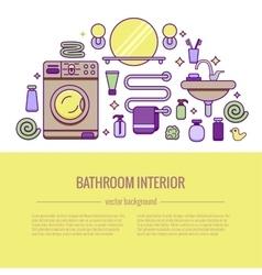 BATHROOM-END vector image vector image