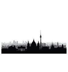 Berlin city buildings silhouette german urban vector