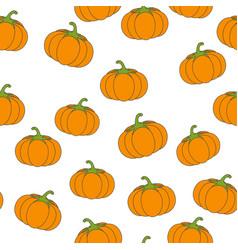 big pumpkin flat seamless pattern on white vector image vector image