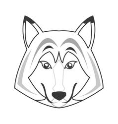 Big wolf icon vector