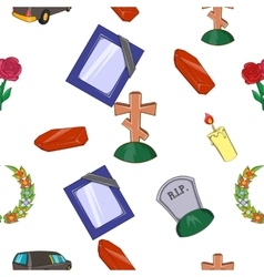 Burial pattern cartoon style vector