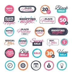Business signs Calendar and USD money bag icons vector image vector image