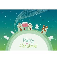 Christmas homes vector image