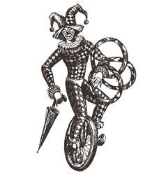 circus logo design template clown or vector image vector image