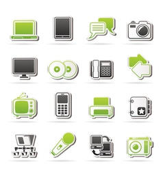 Communication and connection technology icons vector image vector image