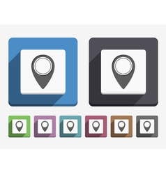 Flat Map Marker Icon vector image vector image