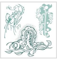 Flower design for tattoo vector image