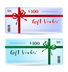Gift card or gift voucher template vector image vector image