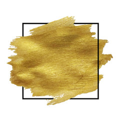 golden blob isolated vector image vector image