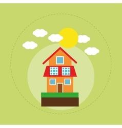 House family home energy ecology solar vector