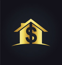 House money sold gold logo vector