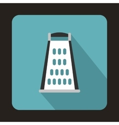 Kitchen grater icon in flat style vector