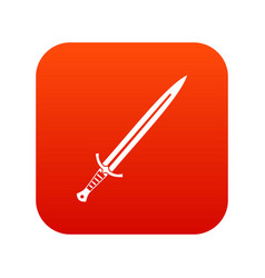 long sword icon digital red vector image vector image