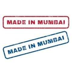 Made in mumbai rubber stamps vector