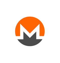 Monero coin symbol logo vector