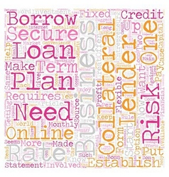 Secured Business Loans Source of funds to vector image