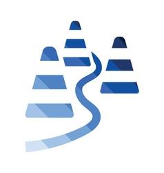 Soccer training cones icon vector image