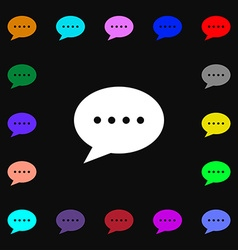 Speech bubbles icon sign Lots of colorful symbols vector image