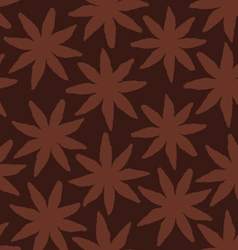 Star anise seamlessly repeating texture background vector