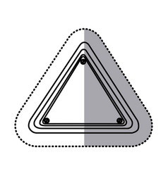 sticker silhouette triangle shape traffic sign vector image vector image