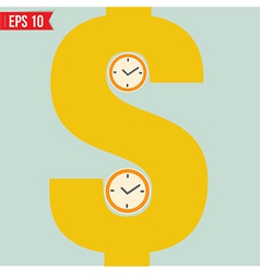 Time is money - - EPS10 vector image vector image