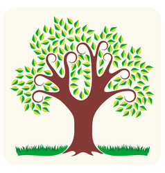 Tree in summer vector