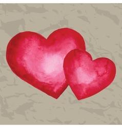 Watercolor heart design element vector