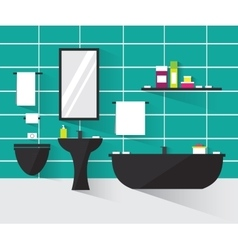 Modern bathroom interior vector