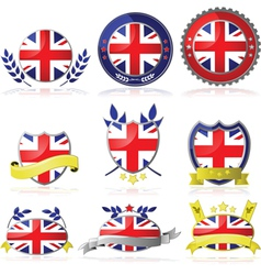 Uk badges vector