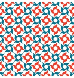 Red and Blue Arabesque Trellis Pattern vector image