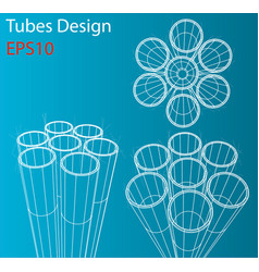 Manufacture and trade of metal pipes vector