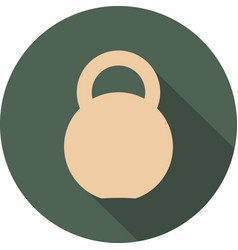 Kettlebell circle icon vector