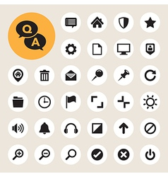 Computer menu icons set vector image