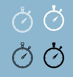 the stopwatch the black and white color icon vector image