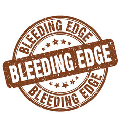 Bleeding edge brown grunge stamp vector