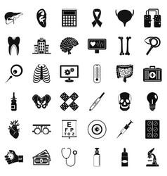 Medicine diagnostic icons set simple style vector