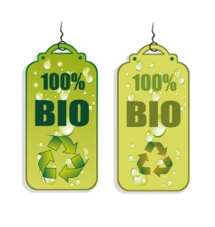 recycling tag icons vector image