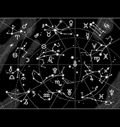 Xii constellations of zodiac vector