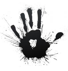 Handprint splatter blow vector
