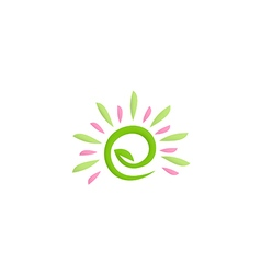 Beauty green leaf nature logo vector