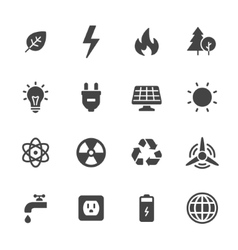 Energy and ecology icons vector