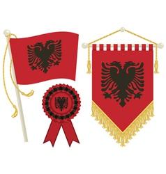 Albania flags vector