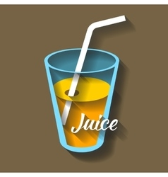 Paper cut juice vector