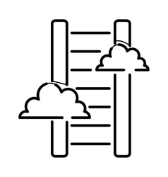 Career stair thin icon isolated line black color vector