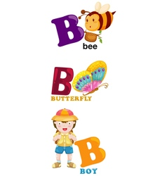 Alphabet letter - b vector