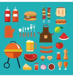 barbecue flat icon vector image